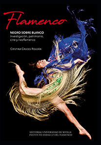 Flamenco negro sobre blanco