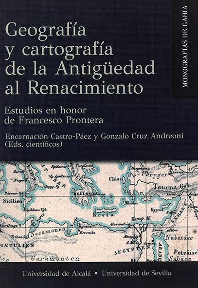 Geografia y cartografia de la antiguedad a