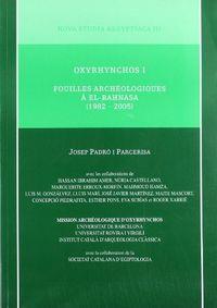 Oxyrhynchos i. fouilles archeologiques a el-bahnasa (1982-20