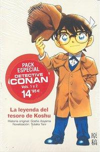 Pack detective conan la leyenda del tesoro de koshu