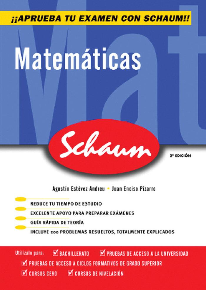Matematicas schaum selectividad 2ª ed curso cero castellano