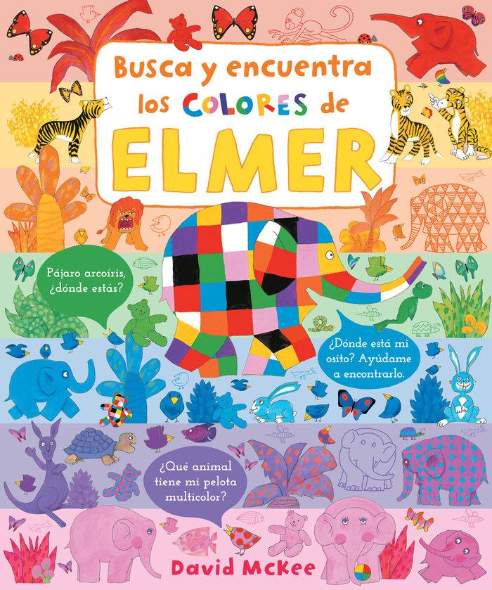 Busca y encuentra los colores de elmer (elmer. pequeñas mani