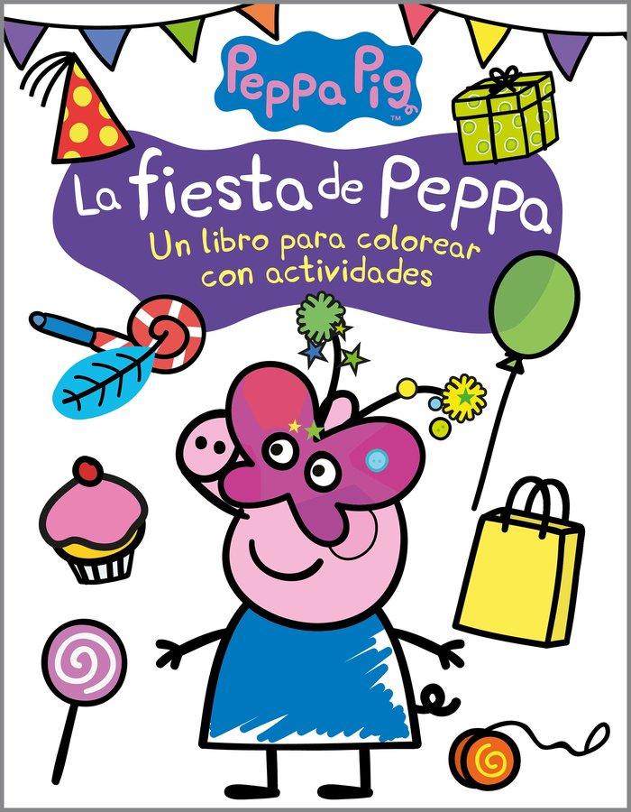 La fiesta de peppa actividades para colore