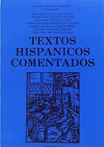Textos hispanicos comentados