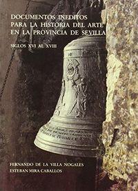 Documentos ineditos ha.arte siglos xvi al xviii