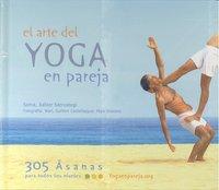 Arte del yoga en pareja,el