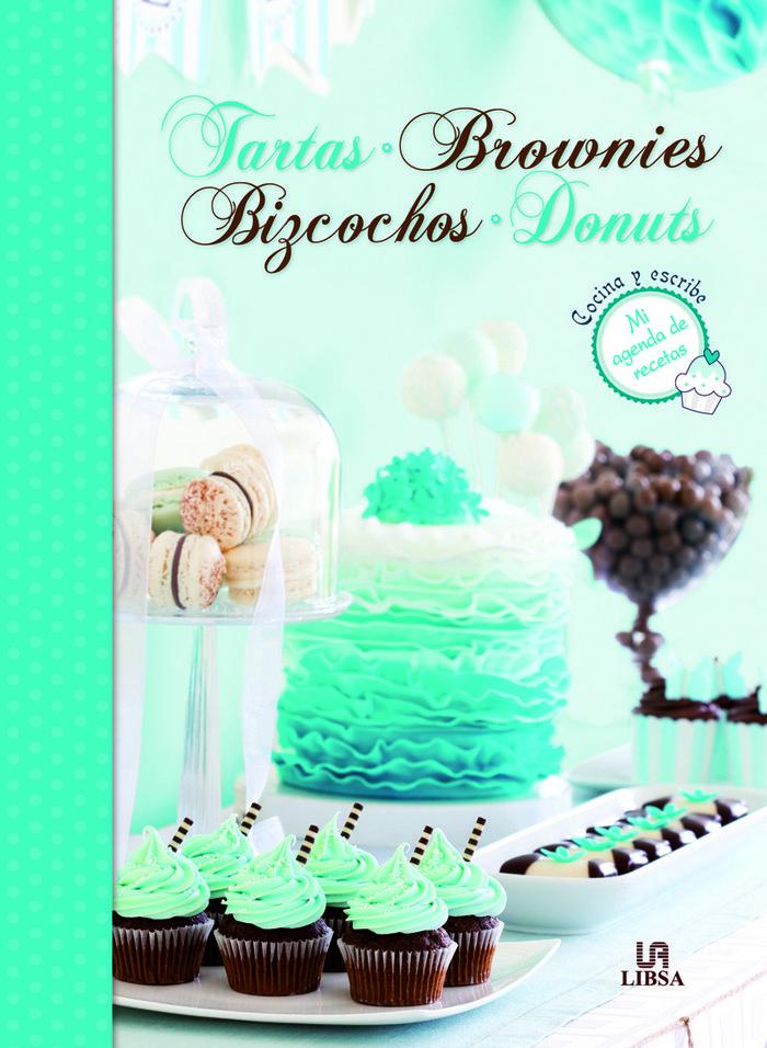 Tartas brownies bizcochos donuts agenda de recetas  cocina y