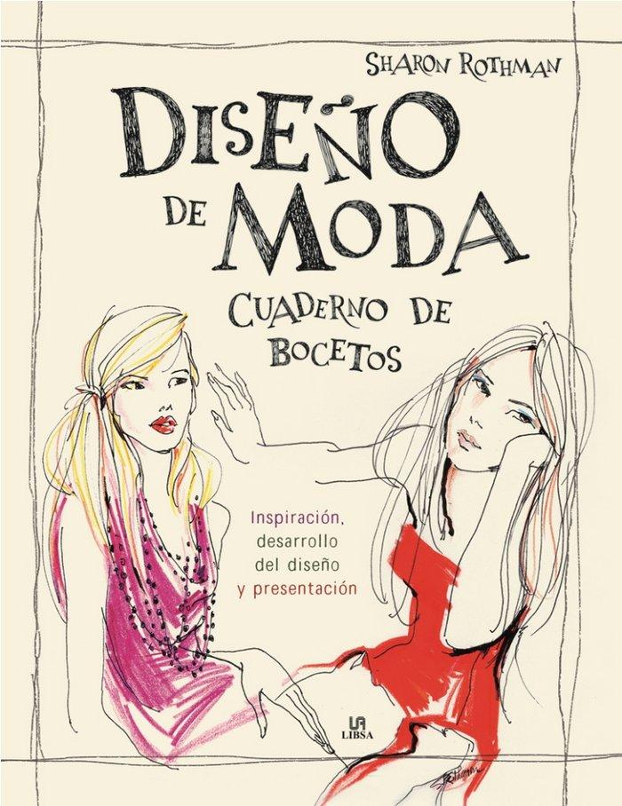 Diseño de moda cuaderno de bocetos