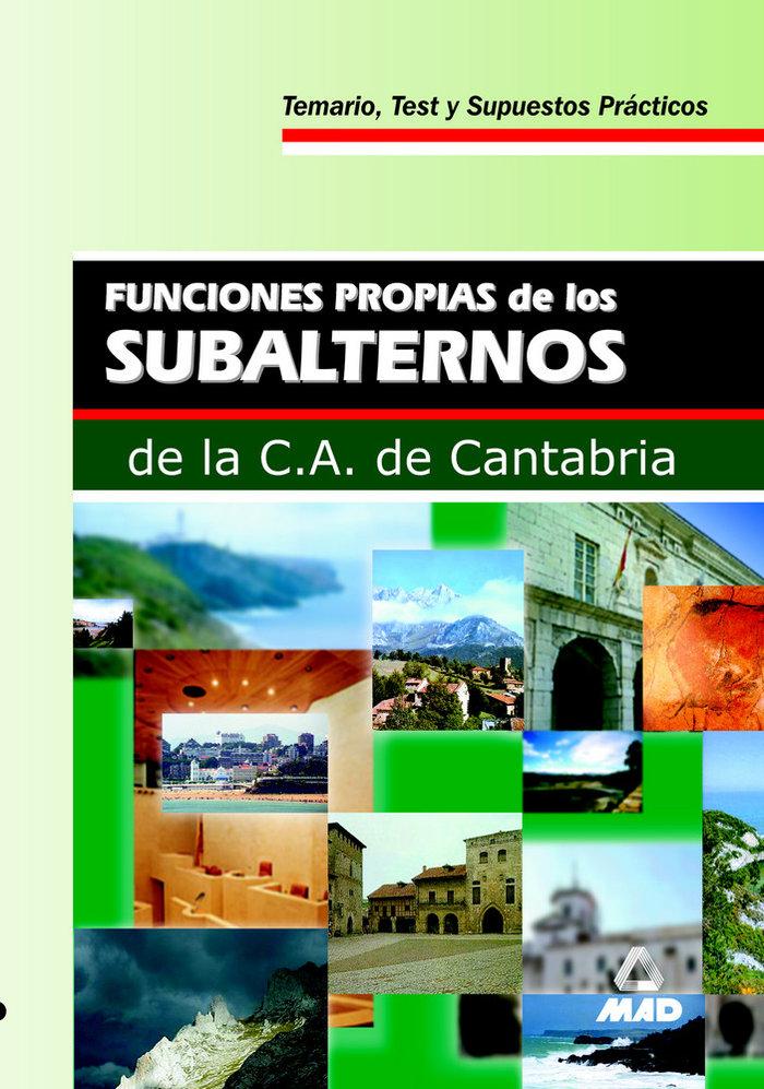 Subalternos c.aut.cantabria funciones propias