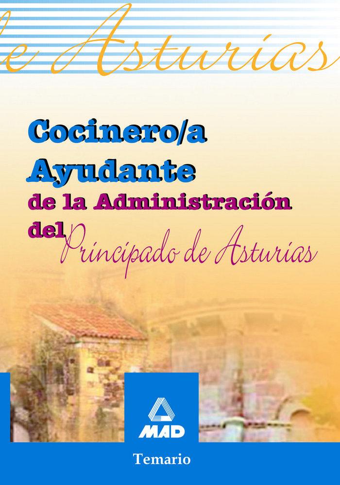 Cocinero/a ayudante adm.principado asturias temario