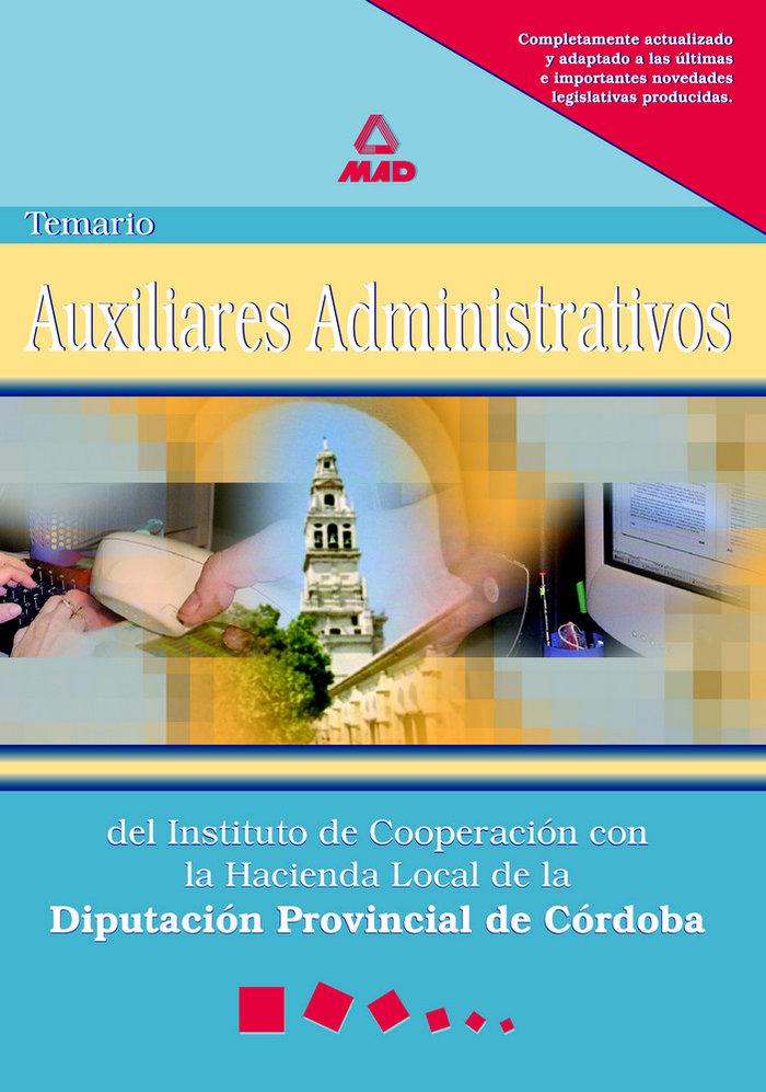 Auxiliares adm.inst.coope.hacienda local temario d.cordoba