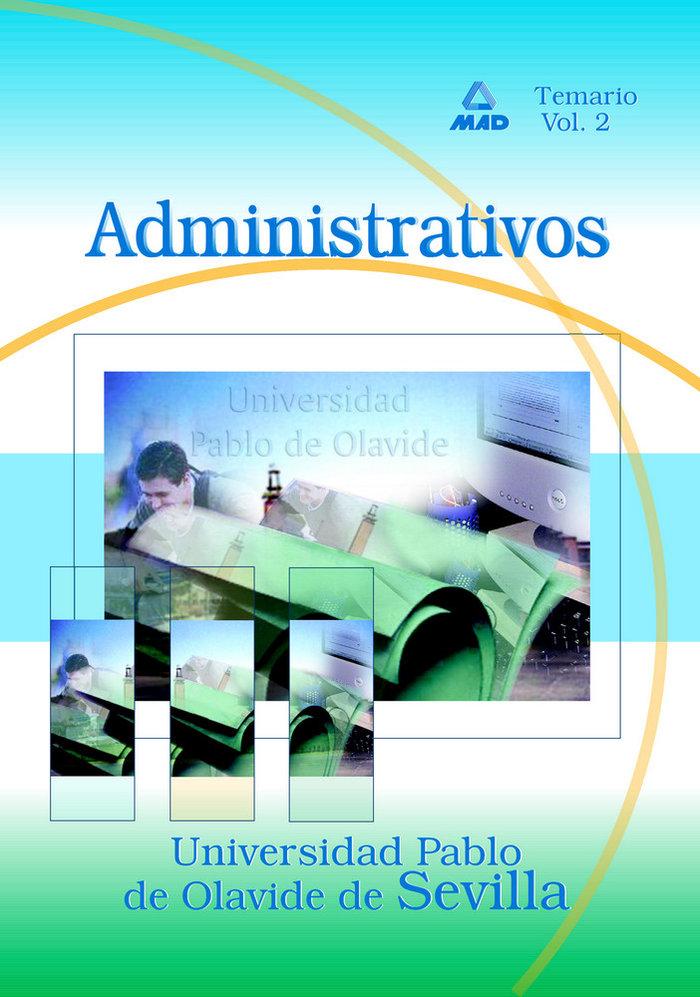 Administrativo univ.pablo olavide sevilla ii temario