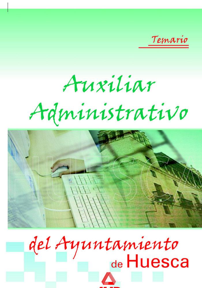 Auxiliar administrativo ayunt.huesca temario