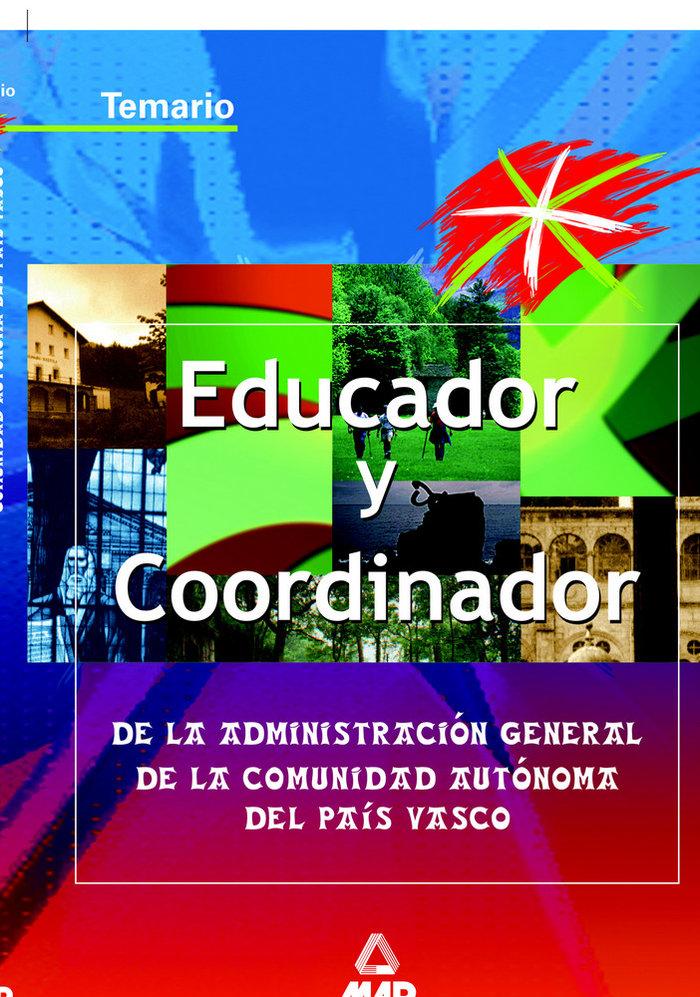 Educador coordinador admin.gener.pais vasco temario