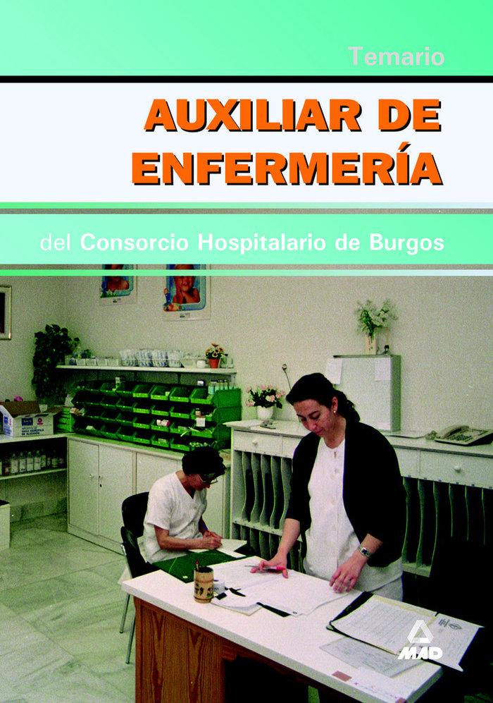 Auxiliar enfermeria consorcio hospitalario burgos temario