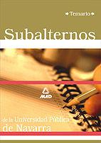 Subalternos de la universidad publica de navarra. temario