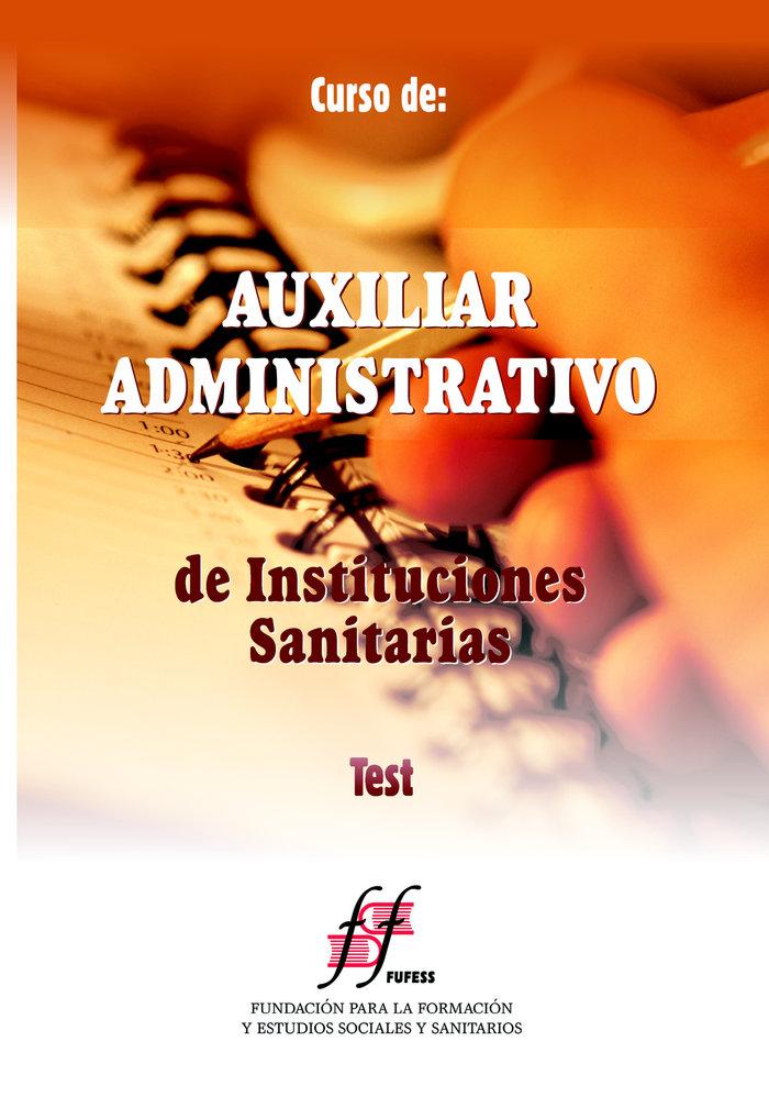 Auxiliar administrativo de instituciones sanitarias. test de