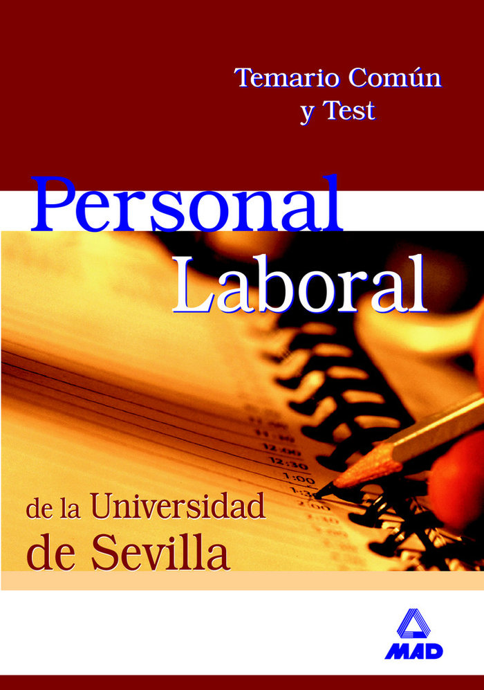 Personal laboral universidad sevilla comun temario y test
