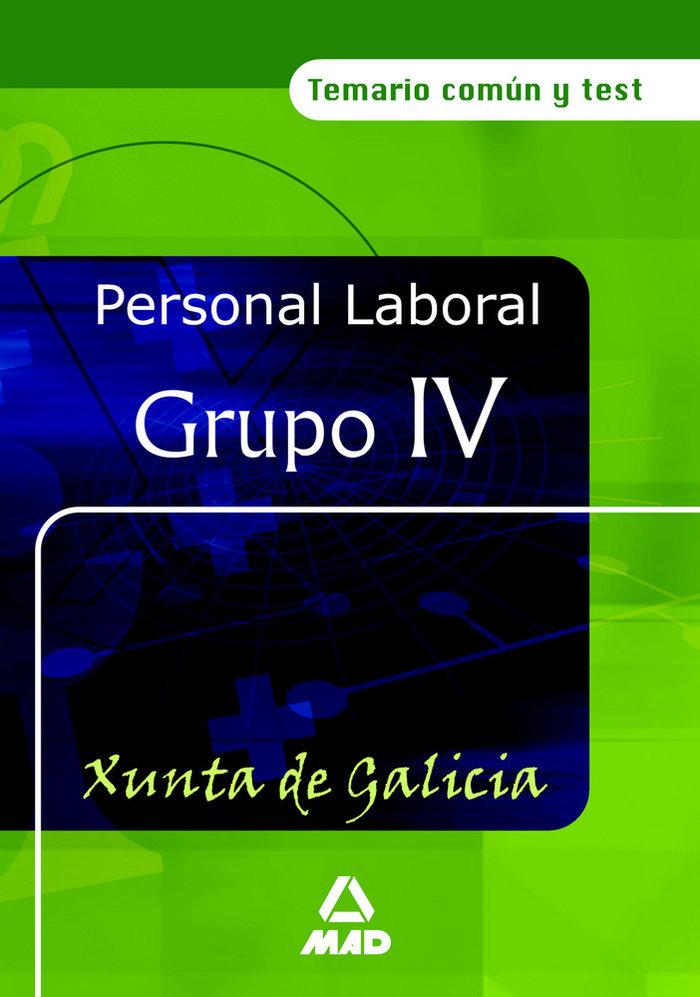 Personal laboral de la xunta de galicia. grupo iv. temario c