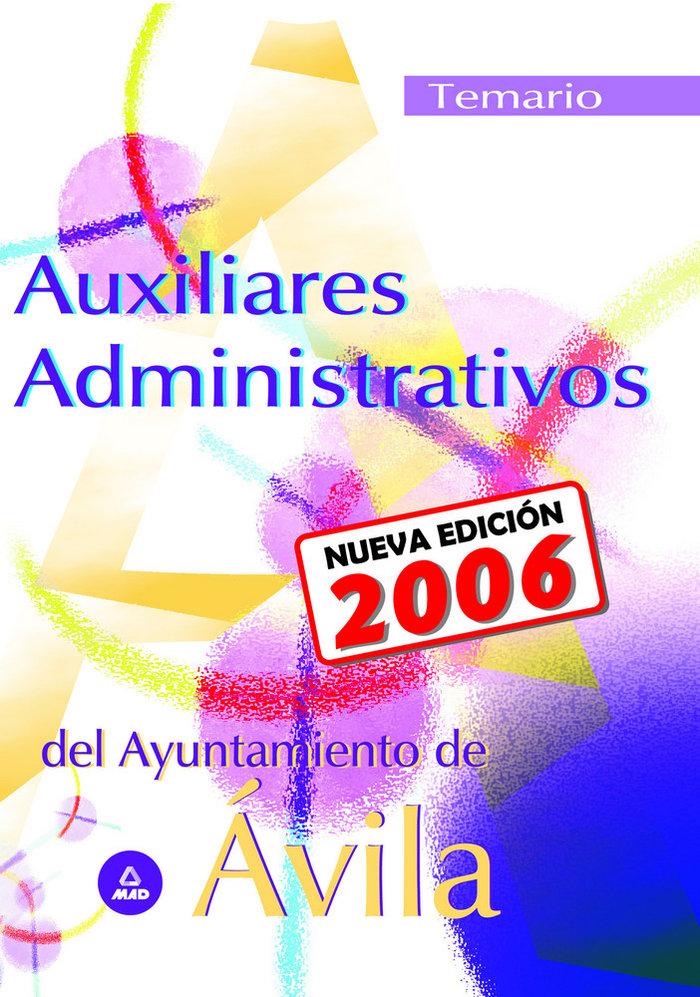 Auxiliar administrativo del ayuntamiento de avila temario