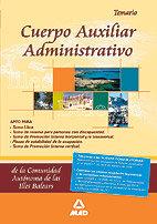 Cuerpo auxiliar administrativo comunidad