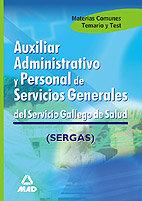 Auxiliar administrativo y personal de servicios generales, s