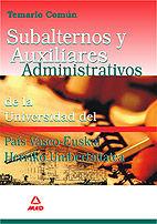 Subalternos y auxiliares administrativos de la universidad d