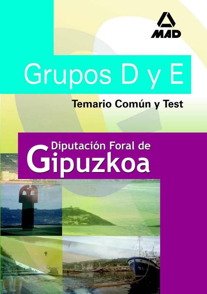 Grupos d y e de la diputacion de gipuzkoa. temario comun y