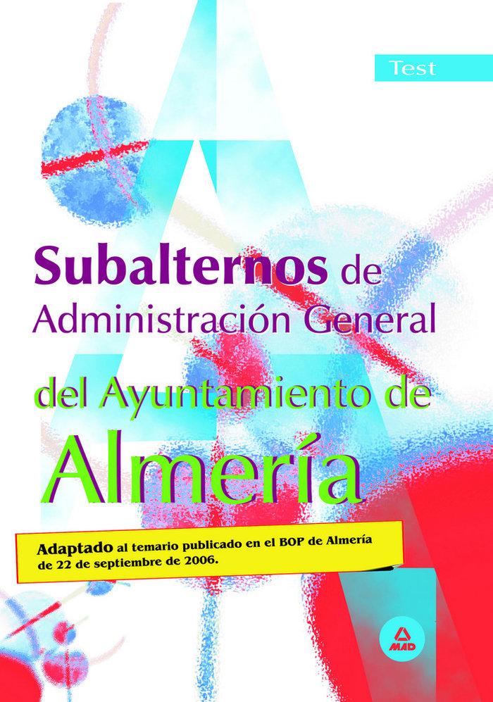 Subalternosaadministracion general ayuntamiento almeria test