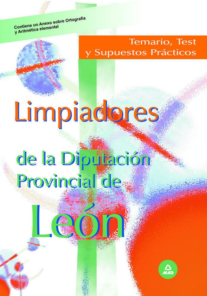 Limpiadores de la diputacion provincial de leon. temario, te