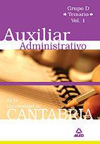 Auxiliar administrativo de la universidad de cantabria. grup