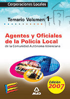 Agentes y oficiales de la policia local de la comunidad auto