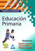 Cuerpo de maestros. temario de educacion primaria. (edicion
