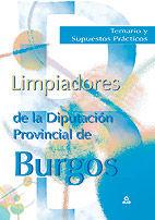 Limpiadores de la diputacion provincial de burgos. temario y