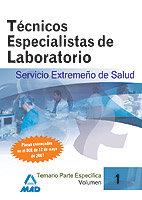 Tecnicos especialistas de laboratorio del servicio extremeño