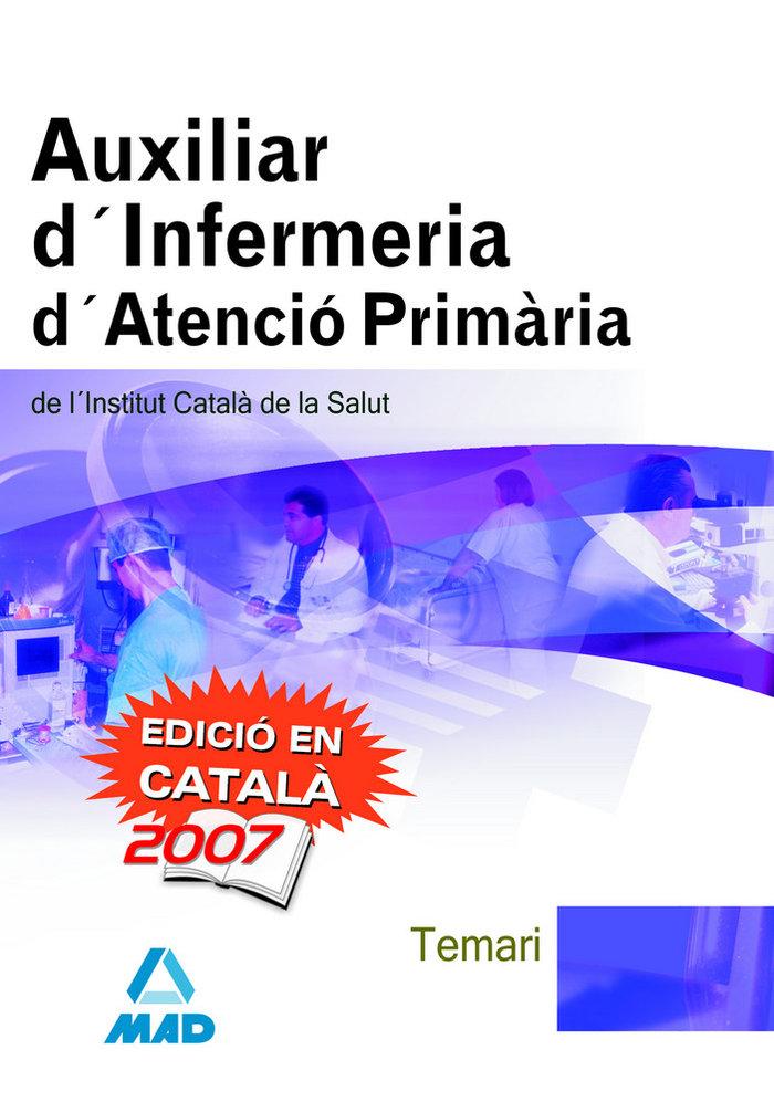 Auxiliar d infermeria d'atencio primaria temario