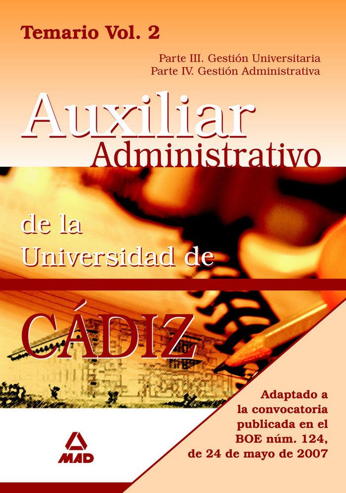 Escala auxiliar administrativa universidad de cadiz ii