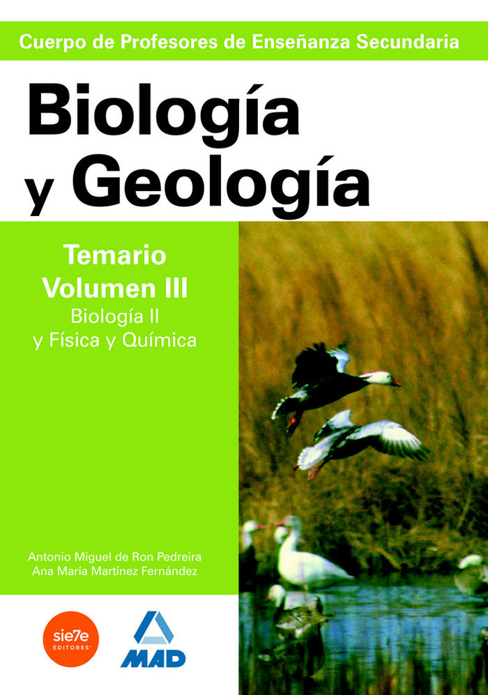 Biologia geologia profesores secundaria vol iii temario