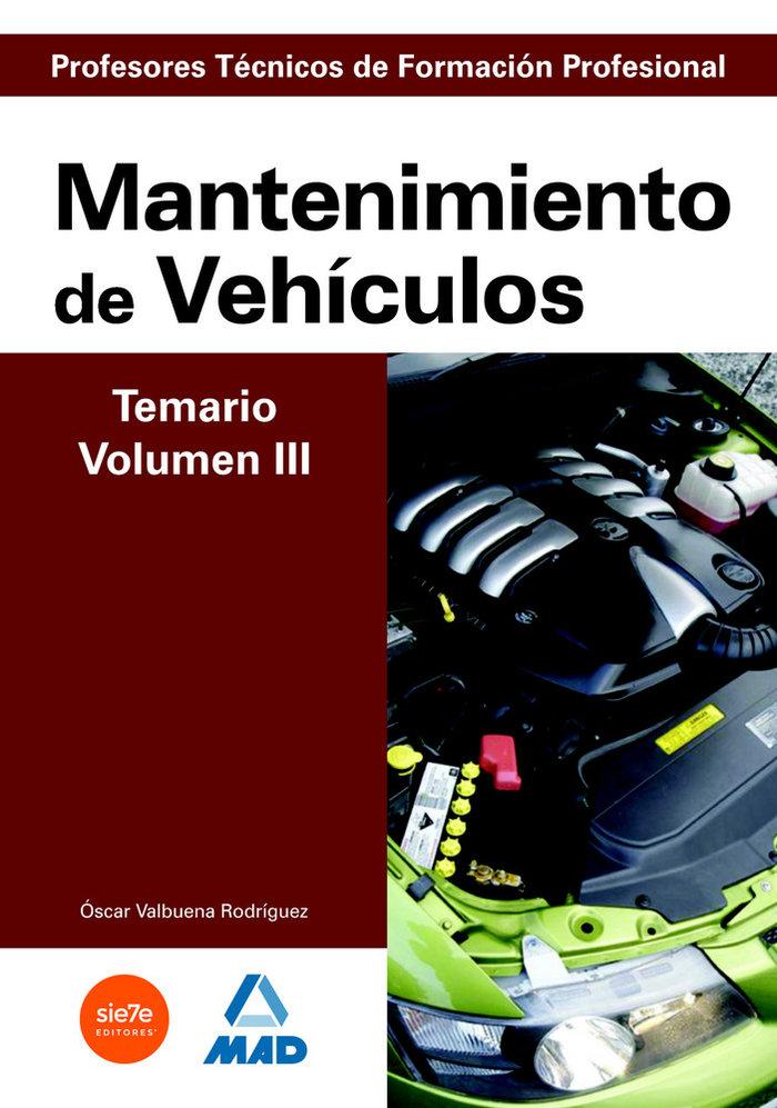 Cuerpo profesores tecnicos fp mantenimiento vehiculo vol iii