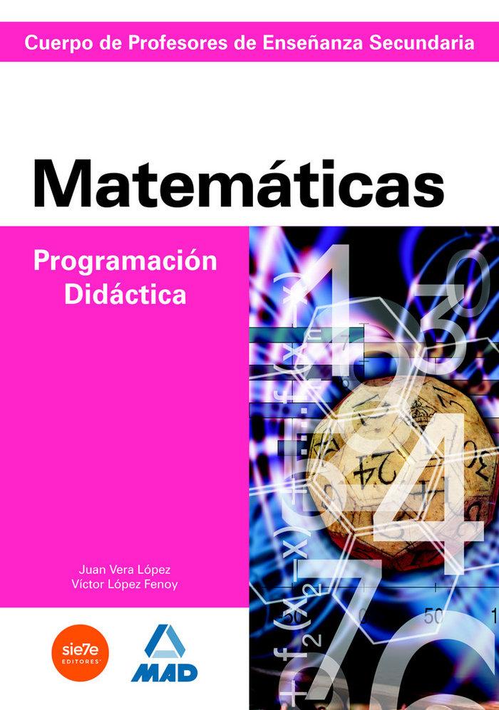 Prog didactica matematicas profesor secundaria