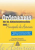 Ordenanzas del  principado de asturias. test del temario y p