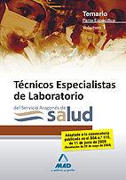 Tecnicos especialistas de laboratorio del servicio aragones