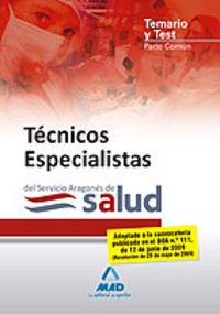 Tecnicos especialistas, servicio aragones de salud. temario