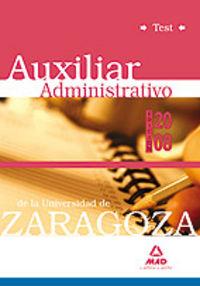 Auxiliares administrativos de la universidad de zaragoza. te