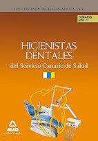 Higienistas dentales del servicio canario de salud. temario