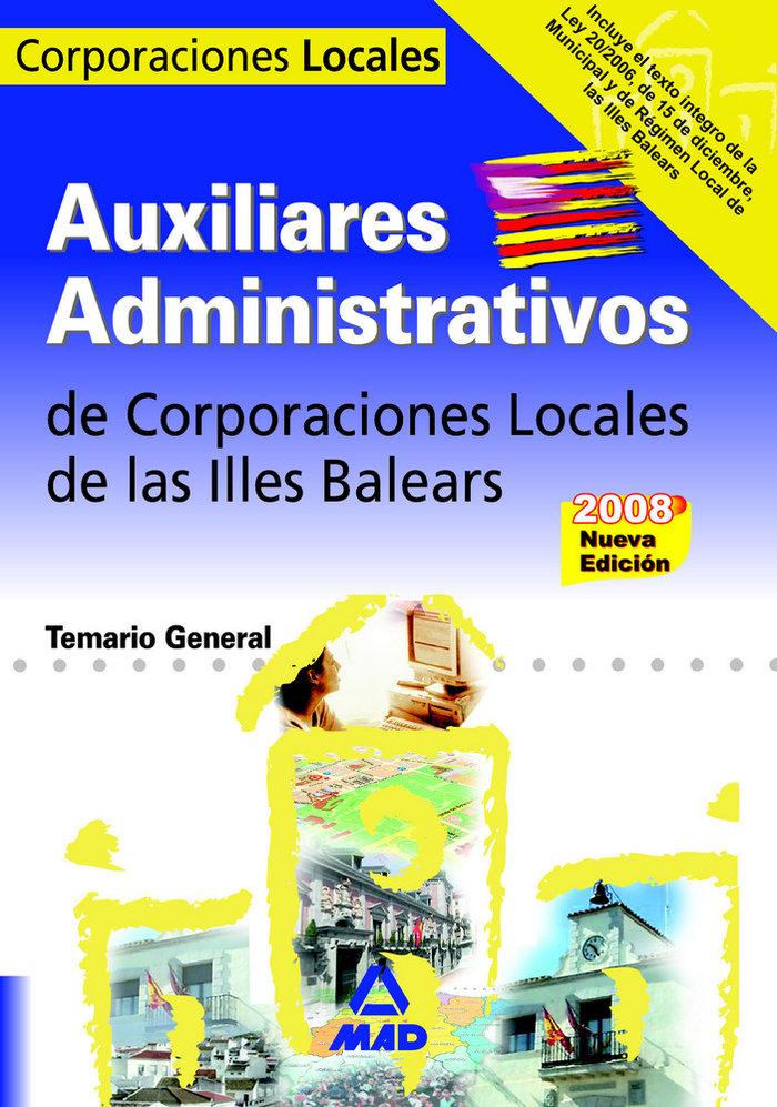 Auxiliares administrativos, corporaciones locales, illes bal