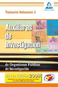 Aux investigacion organismos publicos investigacion i