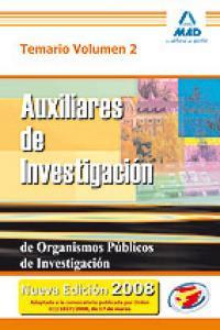 Aux investigacion organismos publicos investigacion ii