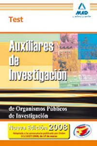 Aux investigacion organismos publicos investigacion test