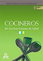 Cocineros servicio canario salud vol 1